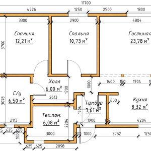 Проект дома барин 88 1 этаж