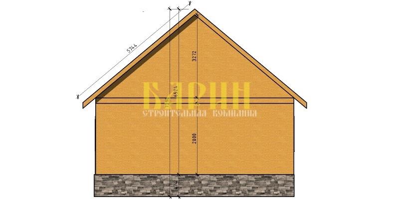 Строим крышу односкатную крышу