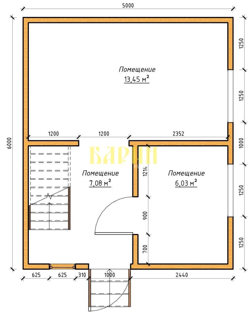 ПРоект планы - План этажа - План 1 этажа на отм- +0-000