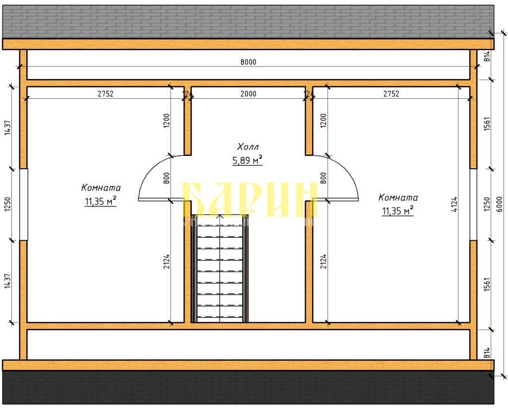 ПРоект планы - План этажа - План 2 этажа на отм-+3-024-