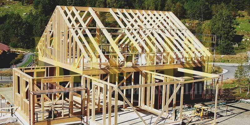 Как строят каркасные дома ?