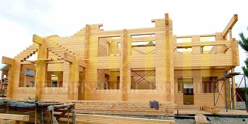 Брус деревянный клееный