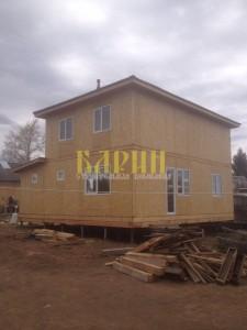 Строительство дома из СИП панелей в селе Мамоново Лотошинского р-на.