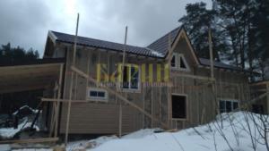 Строительство каркасного дома по индивидуальному проекту